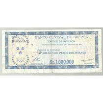 Bolivia Billete De Emergencia 1000000 Bolivianos 1985