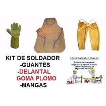 Kit De Soldar Combo Delantal Goma Plomo + Guantes + Mangas