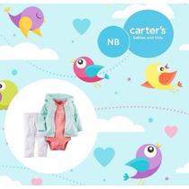 Conjunto Set 3 Piezas Carters Nena Recién Nacida. Nuevo!!