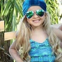Óculos De Sol Infantil Estilo Ray Ban Aviador Proteção Uv400