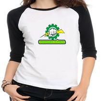Camiseta Raglam Feminino Curso Engenharia Elétrica