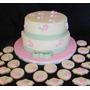 Torta Casamiento 15 Bautismo Elegante Flores Moño