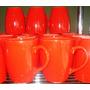 Jarro Desayuno Conico Ceramica Ancers Rojo X 2 Unidades