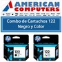Combo De Cartuchos Original Hp 122 Negro + Color 3050 2050