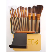 Set De 12 Pinceles Profesional De Maquillaje Naked3 Y Naked4