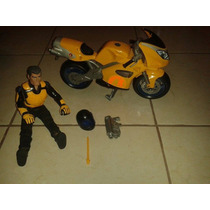 Muñeco Action Man Con Moto