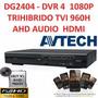 Avtech Dg2404 4 Canales 1080p Trihibrido Tvi 960h Ahd Audio
