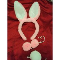 Fantasia Infantil Coelha Rosa Em Pelúcia Coelhinha