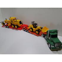 Bitrem Brinquedo 1 Metro Retroescavadeira Trator Patrola