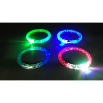 Pulseras Brazalete Rígido Luminoso Led Pack X 12
