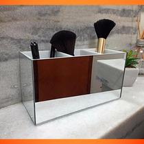 Porta Pincel De Maquiagem De Acrílico Espelhado - Lindo!