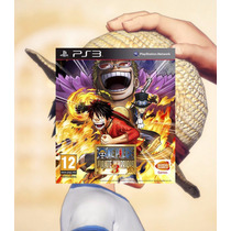 One Piece Pirate Warriors 3 Ps3 Código Psn Envio Imediato !!