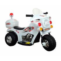 Mini Moto Eletrica Infantil Branca Policia Motoca Bw-002