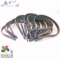 Tiara Plástico Arco 50 Un Preto 10mm Montagem Encapar Forrar