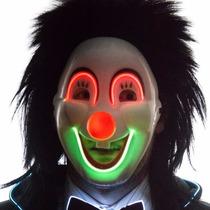 Mascara Neon Con Luz De Payaso Envio Gratis