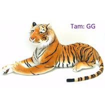 Tigre Pelúcia Gigante Realista Presente Decoração