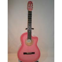 Guitarra Acustica De Paracho Rosa Tipo Requinto