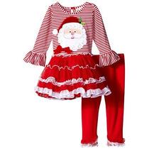 Conjunto De Navidad Leggings Y Tutu De Niña Talla 4 Y 5