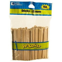 Loew Cornell 1021167 Woodsies 150-count Palitos De Madera