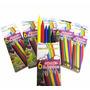 Creyones Colores De Cera Plasticos 6 Unid Maykolor