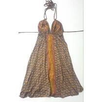 Vestido Corto Hindu Original De India Escotado Sexy Nuevo