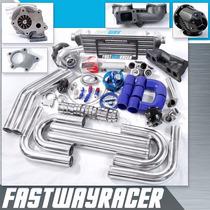 T04e T3 T3/t4 Kit Turbo Encaja 240sx S13 Ka24e 2.4