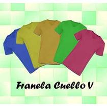 Franelas Unicolor Cuello V