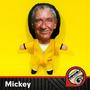 Mickey Muñeco Tela Vellon Rocky Pelicula
