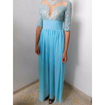 Remate Vestido Azul Moda Asiatica Con Daño Talla M