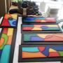 Cuadros Arte Country Composición Colores Abstracto Pintura