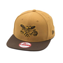 Boné New Era Snapback Original Fit Charlotte Hornets Wheat