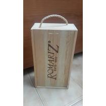 Caja Para Obsequiar Vino. En Madera