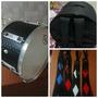 Zabumba Luthier 16 + Capa Luxo + Correia Artesanal Reforçada