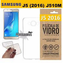 Película Vidro Celular Galaxy J5 2016 J510m + Capa Tpu Flex