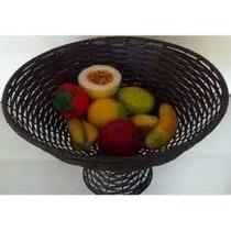 Fruteira De Mesa De Junco Sintético