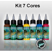 Kit Com 7 Tintas Para Tatuagens Electric Ink
