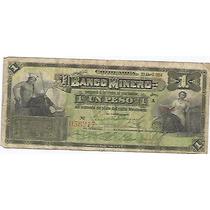 1 Peso Banco Minero 1914 Envio Gratis Dhl