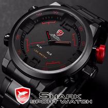 Relógio Shark Sport Militar Led Original Prova D´água
