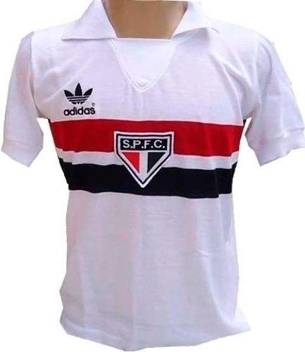 73c3d0650d Camisa Retrô São Paulo 1980 Branca Spfc Feminina   Baby Look - R  89 ...