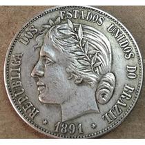 Moeda Rara 2000 Réis De 1891 Cópia