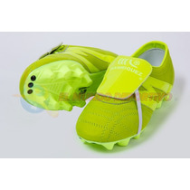 Zapato De Futbol Manriquez Profesional Piel Total Verde
