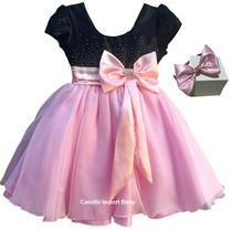 Vestido Infantil Festa Luxo Modelo Princesa Realeza E Tiara
