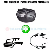 Combo Baul Shad 40 Lts+soporte Ira Rouser Ns Trasero+lateral