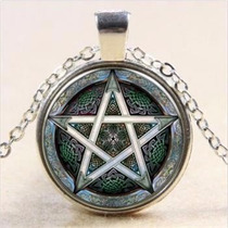 Dije Pentagrama Mawiluz Wicca Celta Bruja