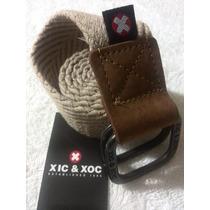 Correa Cinturón Xic & Xoc Nueva Original Color Beis
