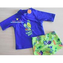 Conjunto Camisa Short Proteção Solar Uv 50 Fps Bebê Infantil
