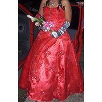 Hermoso Vestido De 15 Años Color Rojo