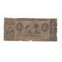 Ee.uu. Antigüo Dolar Confederado Bank Of Georgia De 1859