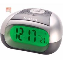 Relógio Despertador Digital Fala Horas Deficiente Haller