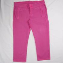 Precioso Pantalon Pescador Rosa Stretch Para Dama T 9